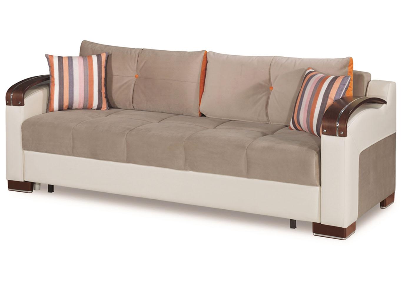 divan deluxe gray microfiber sofa u and u home budget furniture