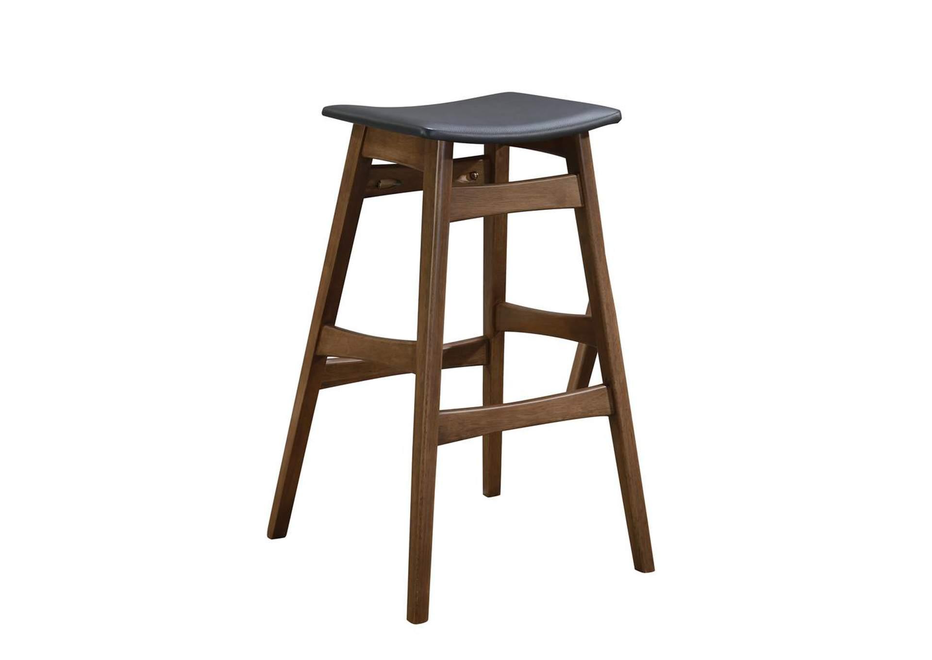 Tapered Legs Bar Stools Dark Grey And Walnut Set Of 2 Best Buy Furniture And Mattress