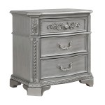 Juliet Silver Nightstand Home Furnishings Depot Ny