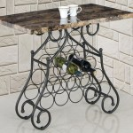 Marble Wine Rack End Table The Furniture Outlet Ny