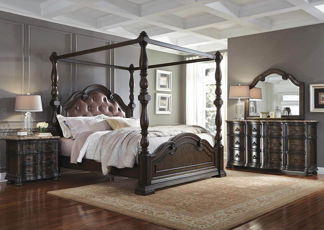 cortina california king canopy bed w