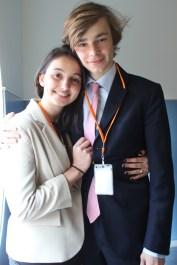 Adèle Laurent, chef de l'administration externe et Christiaan van Eden, Vice-président de l'UA