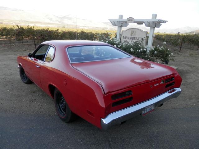 1970 PLYMOUTH 340 DUSTER RED BLK CLEAN 70 CALIF MOPAR CAR
