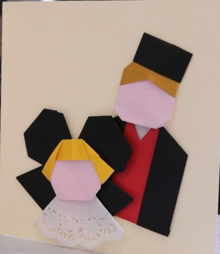 Carte de couple alsacien en costume traditionnel d'Élisabeth Hubner