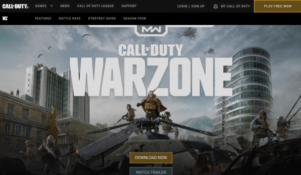 Call of duty : Warzone Free Battle Royale Games for PC