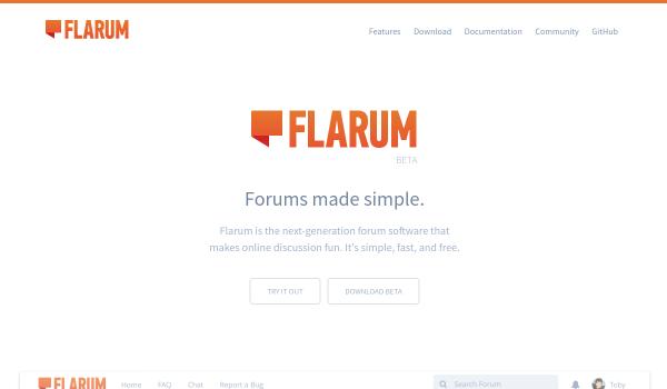 Flarum free forum softwares