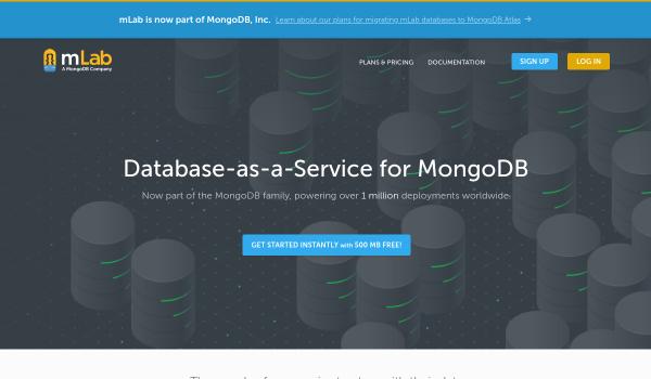 mLab free mongodb hosting