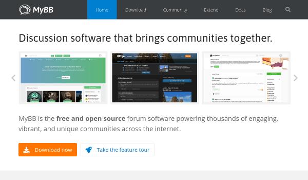 MyBB free forum softwares