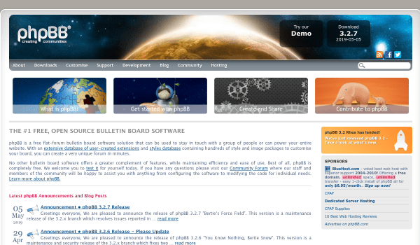 phpBB free forum softwares