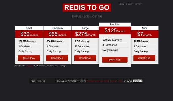 Redistogo free redis hosting