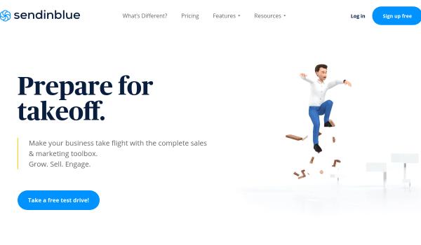 SendinBlue free smtp email services