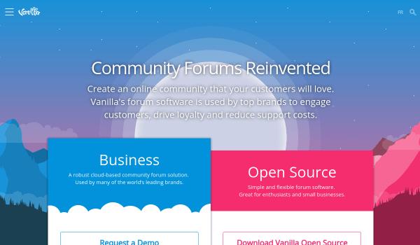 Vanillaforums free forum softwares