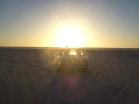 sunsets in the benz on the beach in australia