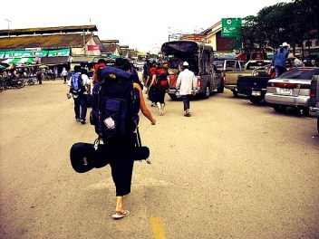crossing the border into cambodia