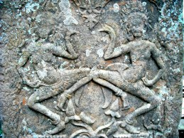 Devatas on Angkor Wat
