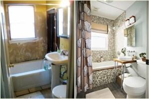 ремонт ванной до и после