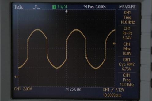 P - синусоидално правоъгълен сигнал