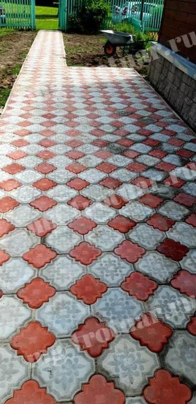 Укладка тротуарной плитки Гжелка в Истринском районе д ...