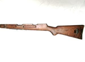 Beretta 38A wooden stock with butt plate and mag well cover