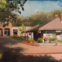 Collierville, TN Depot, 8×16, oil on linen cropped