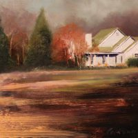 Country Home 2011 11×14 oil on masonite