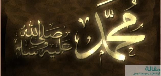 أعظم رجل في التاريخ سيدنا محمد عليه الصلاة والسلام
