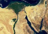 Delta del Nilo y península del Sinaí