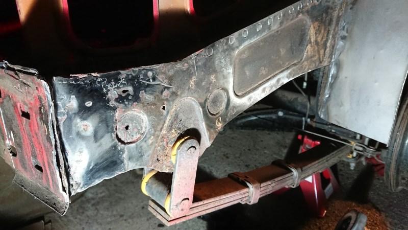 Rear chassis leg repair part 1