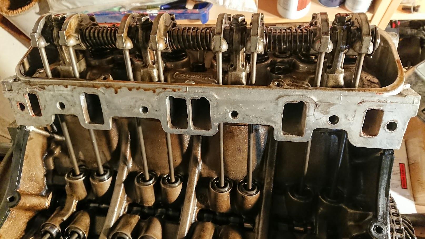 Engine stripdown and crankshaft modification
