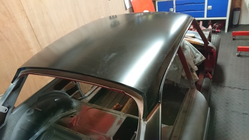 New roof panel fitting
