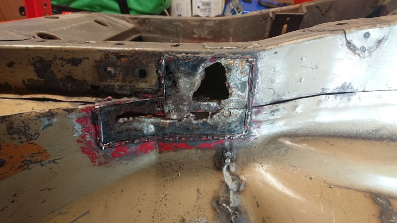 Front chassis rail repair