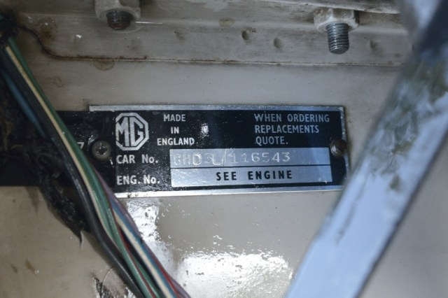 1967 MGB GT identification number