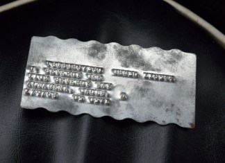 1967 MGB GT warranty identification plate, note different number
