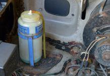Tudor window washer bottle and bracket