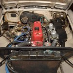 1967 MGB GT engine compartment after cleaning
