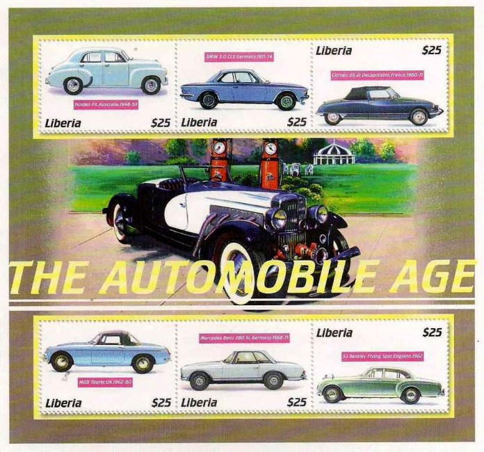 Liberia - The Automobile Age stamps
