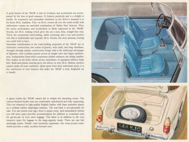 MG MGB Roadster brochure 1967 interior