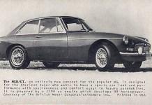 Early 1965 MG MGB/GT promo photo