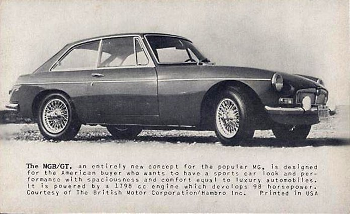 Early 1965 MG MGB/GT promo photo