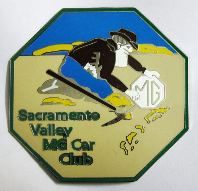 Sacramento Valley MG Car Club enamel emblem