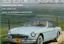 1963 MGB on the cover of Road and Track magazine, November 1962