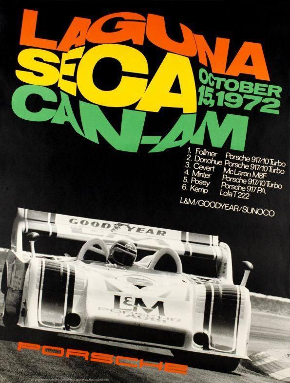 Laguna Seca Can Am Porsche 1972