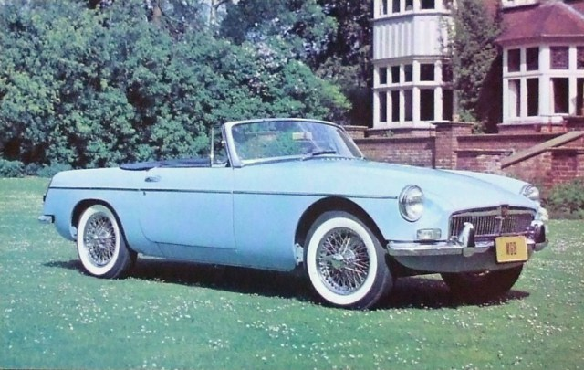 MG MGB Dealer Postcard