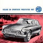 MG MGB GT distribution poster Brussels