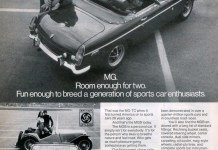 MG. Room enough for two. Fun enough to breed a generation of sports car enthusiasts.