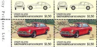 MGB GT - Grenadines of St. Vincent Stamp