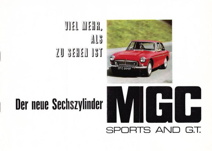1967 MG MGC Brochure German page 1