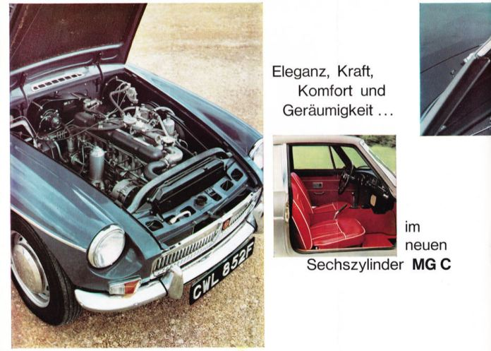 1967 MG MGC Brochure German page 4