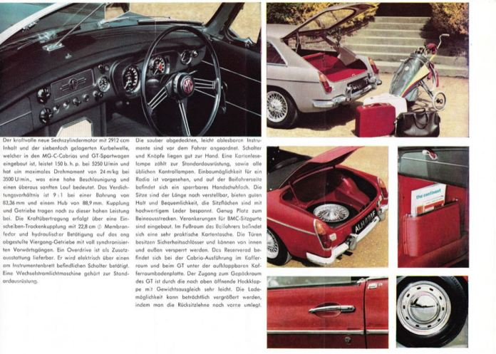 1967 MG MGC Brochure German page 5