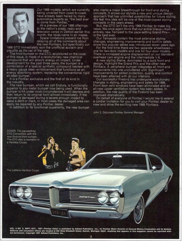 1968 Pontiac LeMans scuba ad